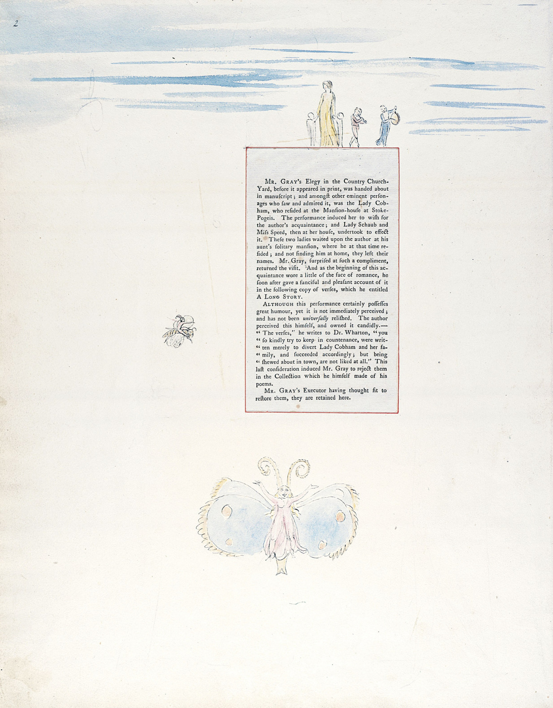 William Blake. Illustrations to the poems. Long story. Sheet 2