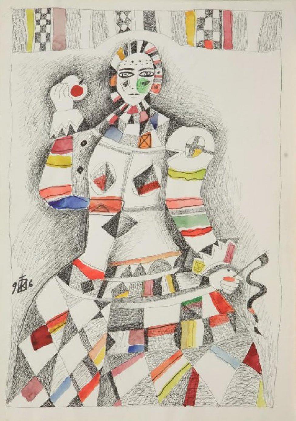 Igor Vasilyevich Kislitsyn. Girl with apple