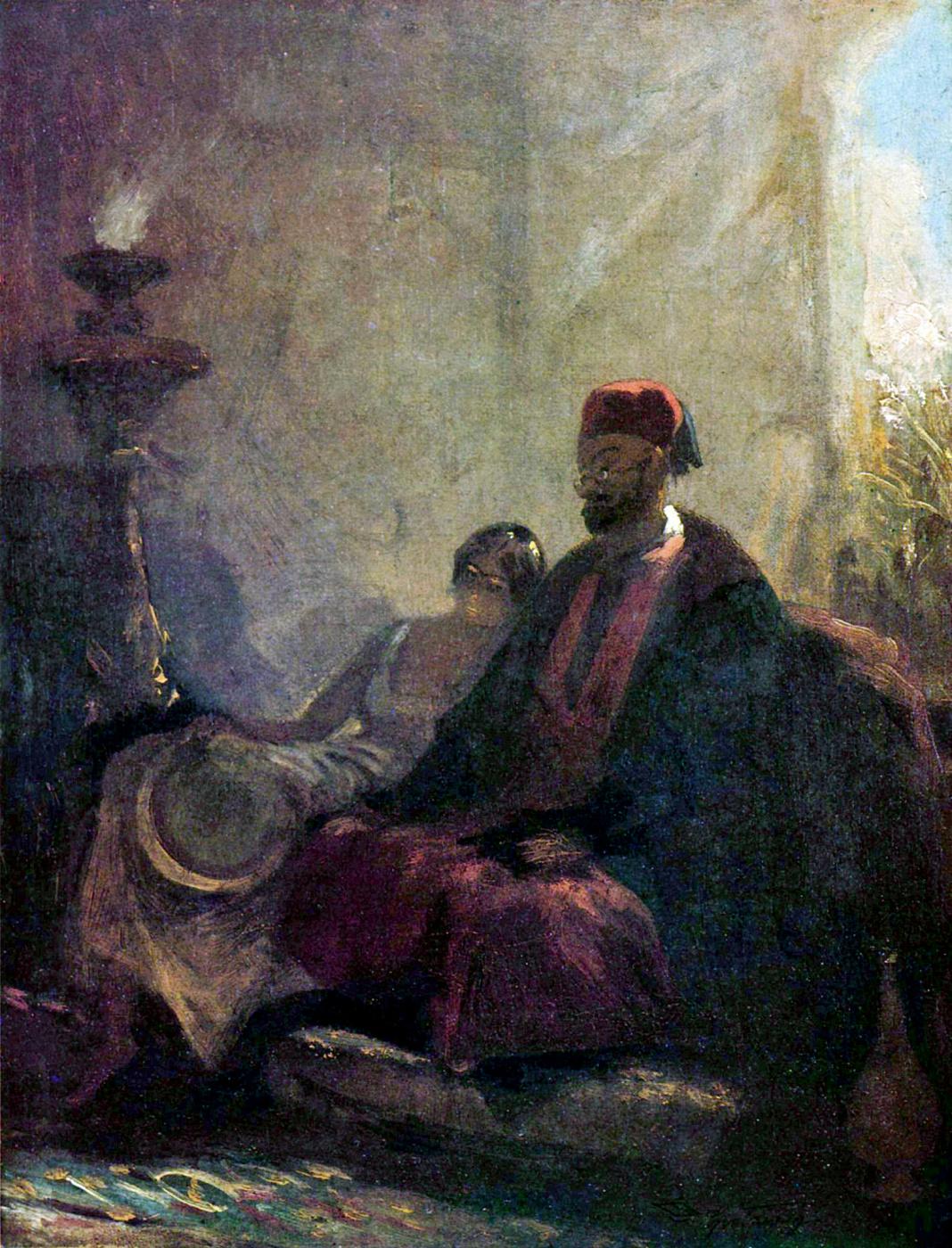 Karl Spitzweg. In the harem