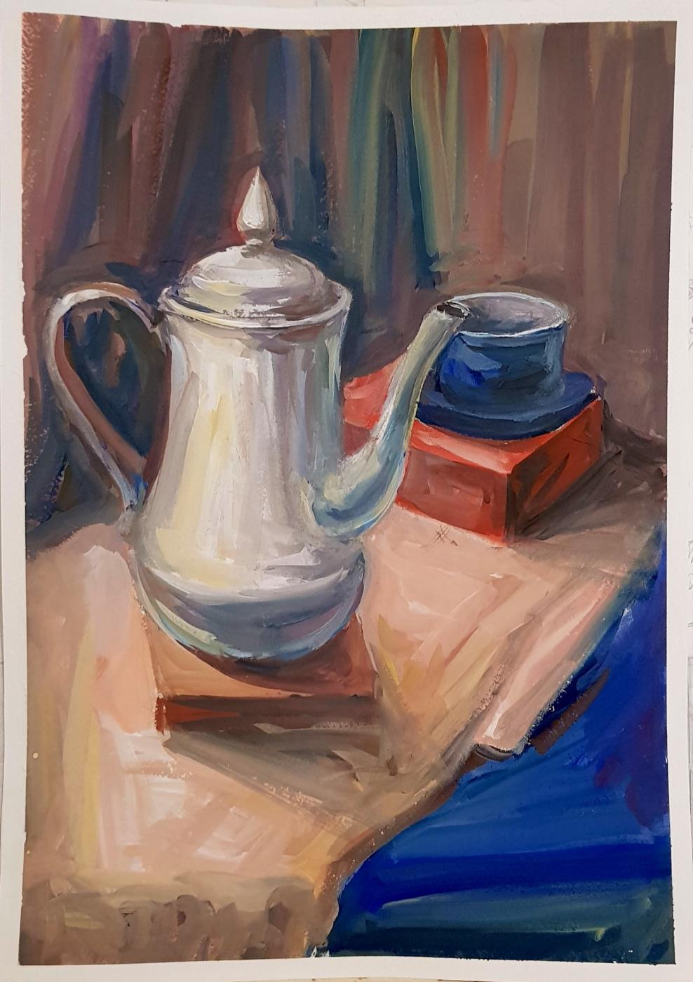 Evgeniya Kaposhka. Still life with a white object