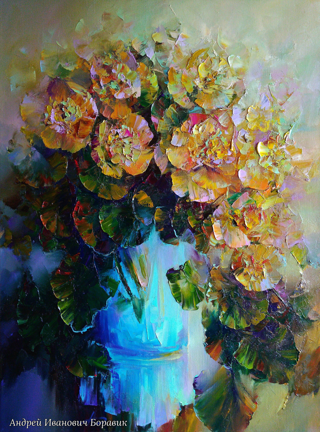 Andrei Ivanovich Boravik. SPRING FLOWERS