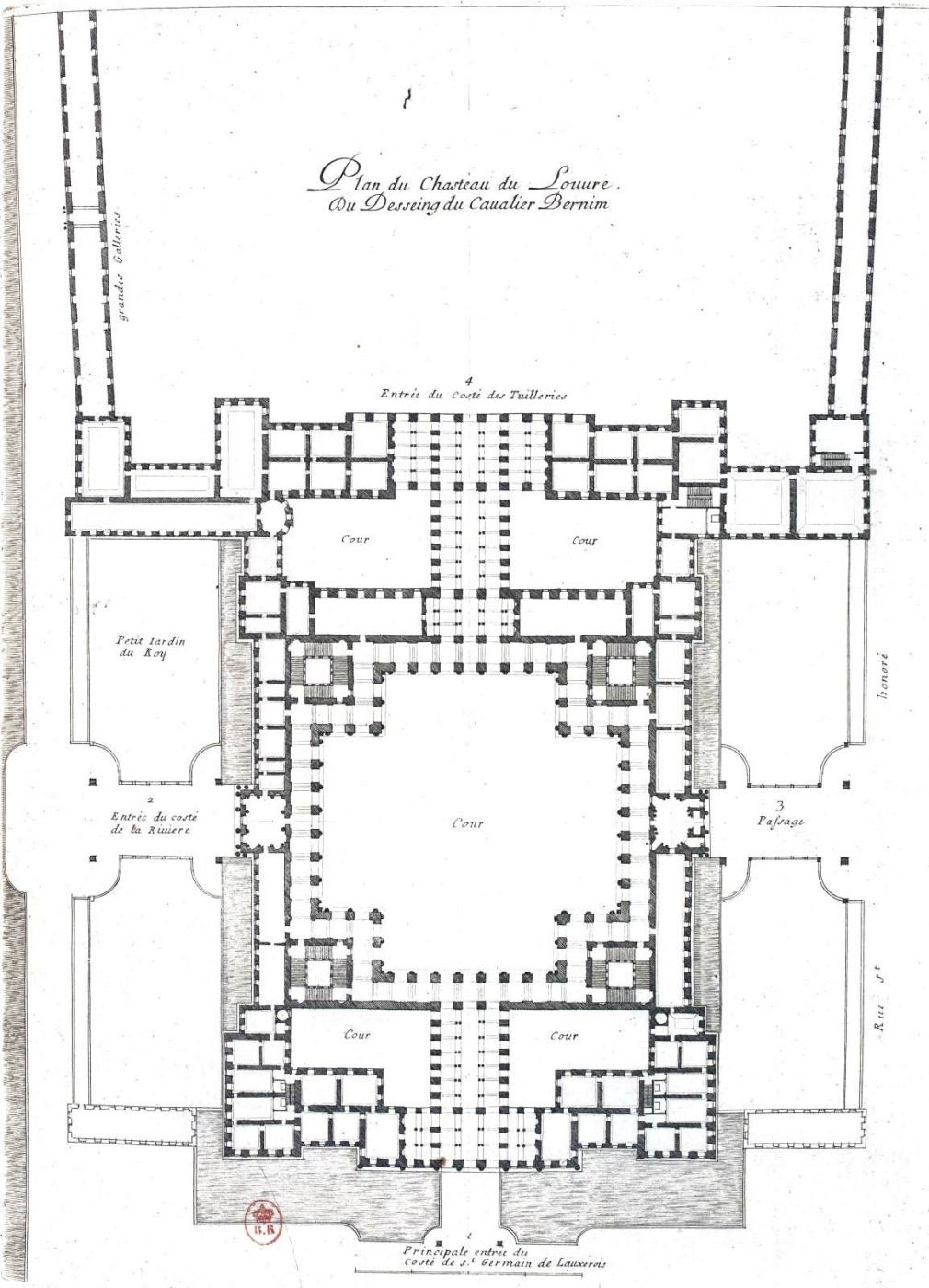 Gian Lorenzo Bernini. The third (final) project of the Louvre