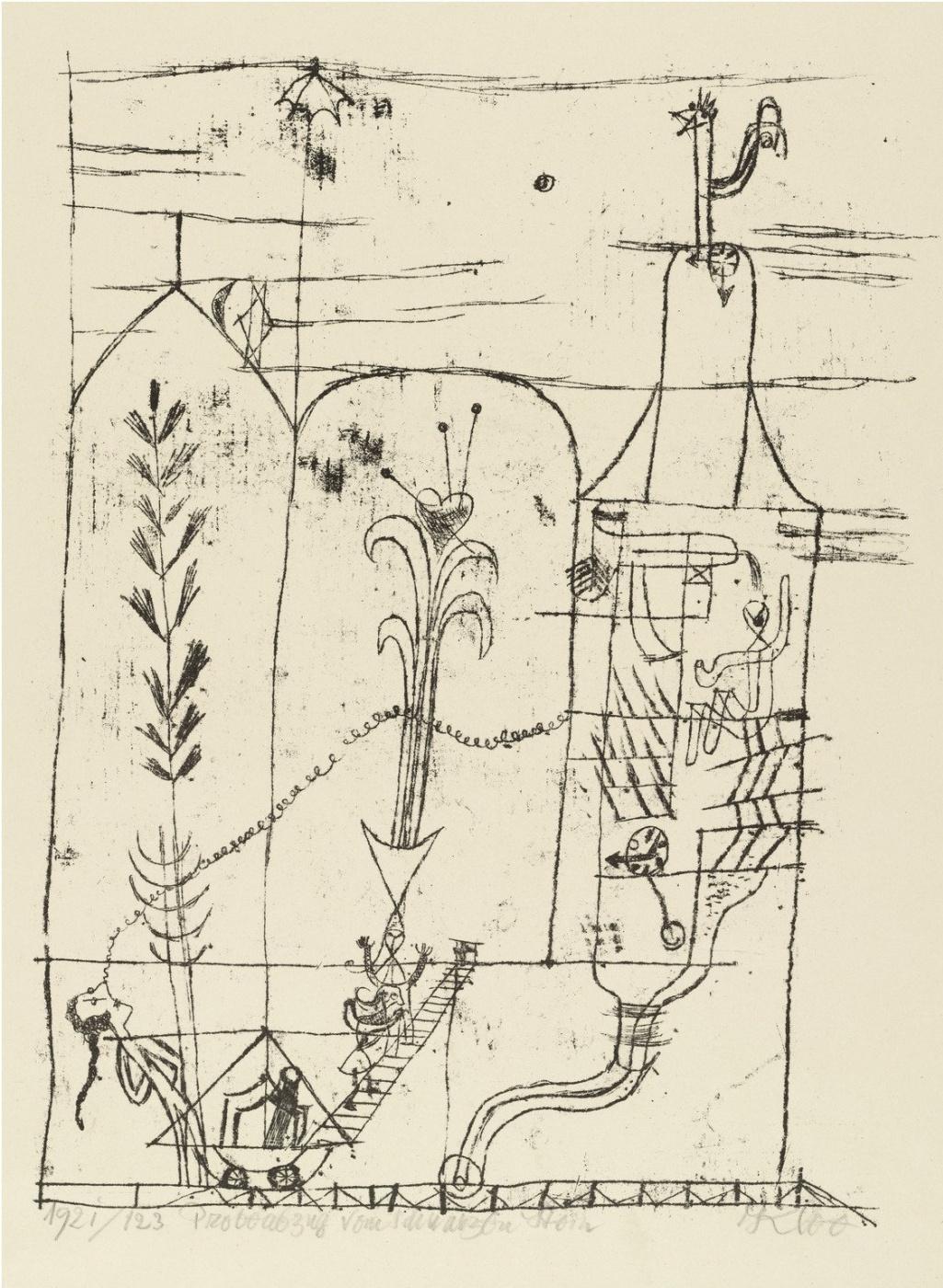 Paul Klee. Hoffmannesque Scene