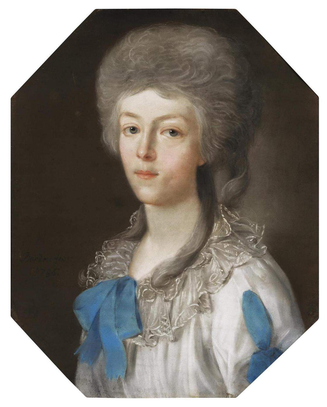 Karl Wilhelm Bardoux. Portrait of a young lady