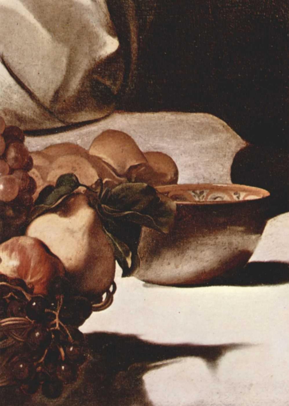 Michelangelo Merisi de Caravaggio. The supper at Emmaus. Fragment
