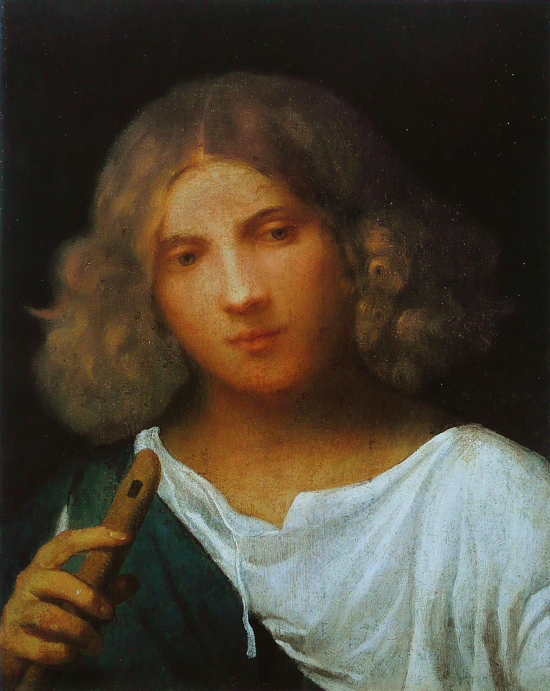 Giorgione. Boy with flute