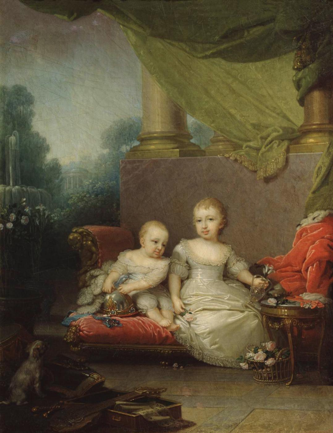 Vladimir Borovikovsky. Porret of Grand Duke Nikolai Pavlovich and Grand Duchess Anna Pavlovna, children of Paul I