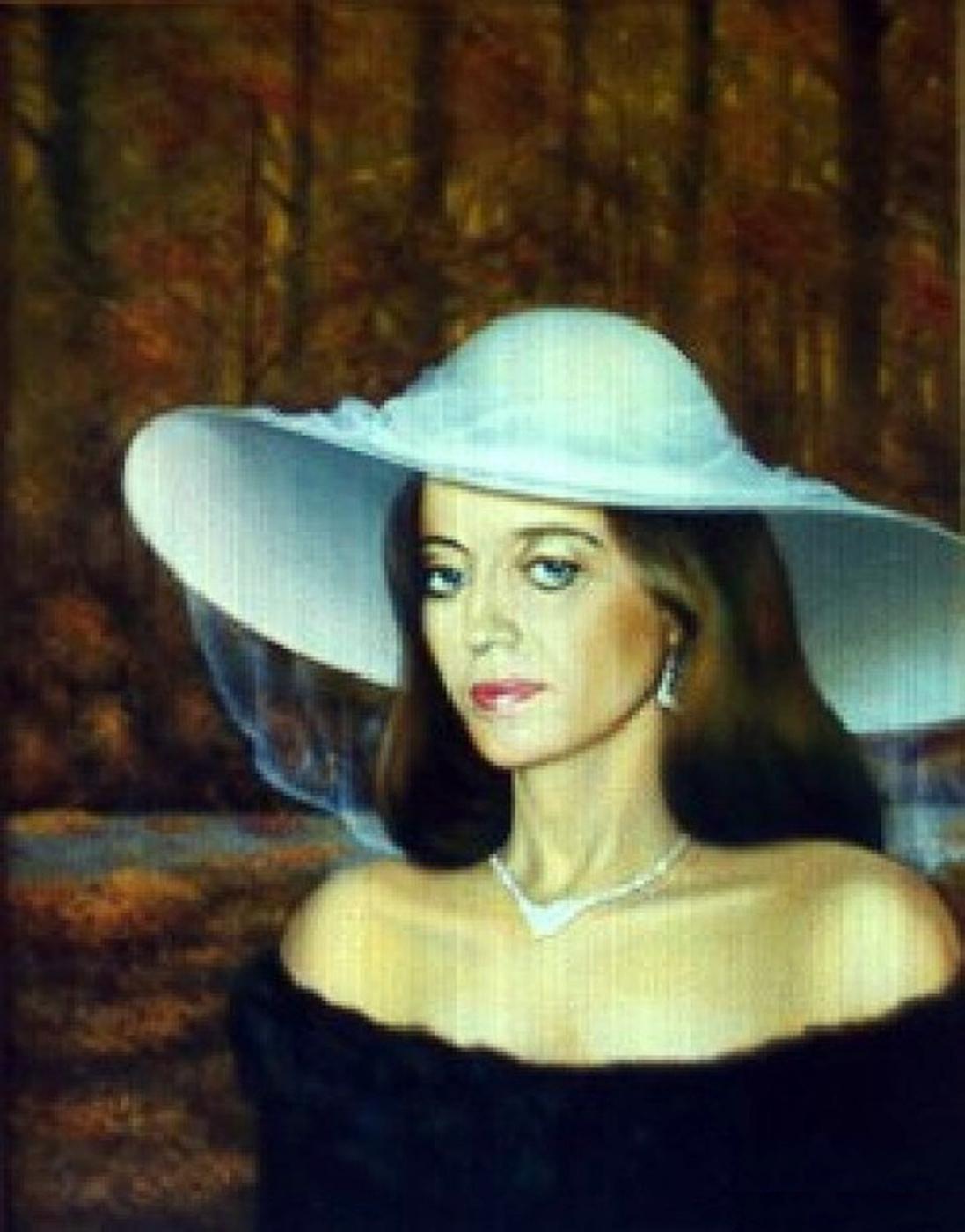 Vladimir Vasilyevich Abaimov. Portrait of Irina in the autumn Forest