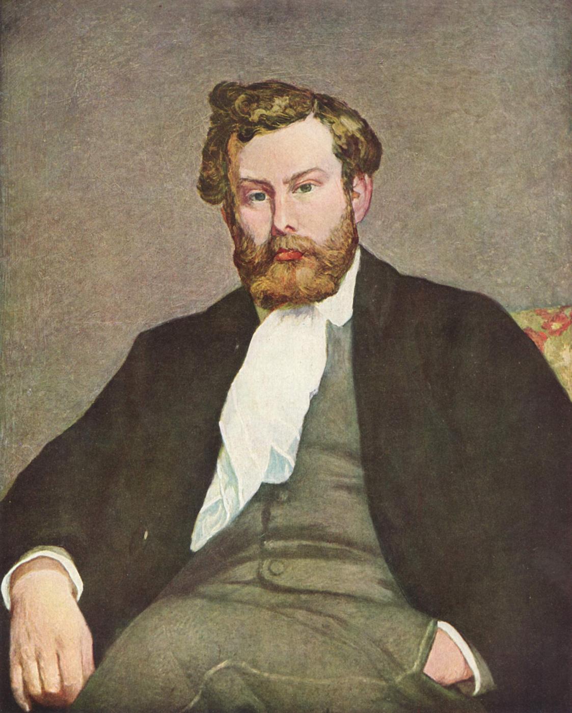 Pierre-Auguste Renoir. Portrait of the artist Alfred Sisley
