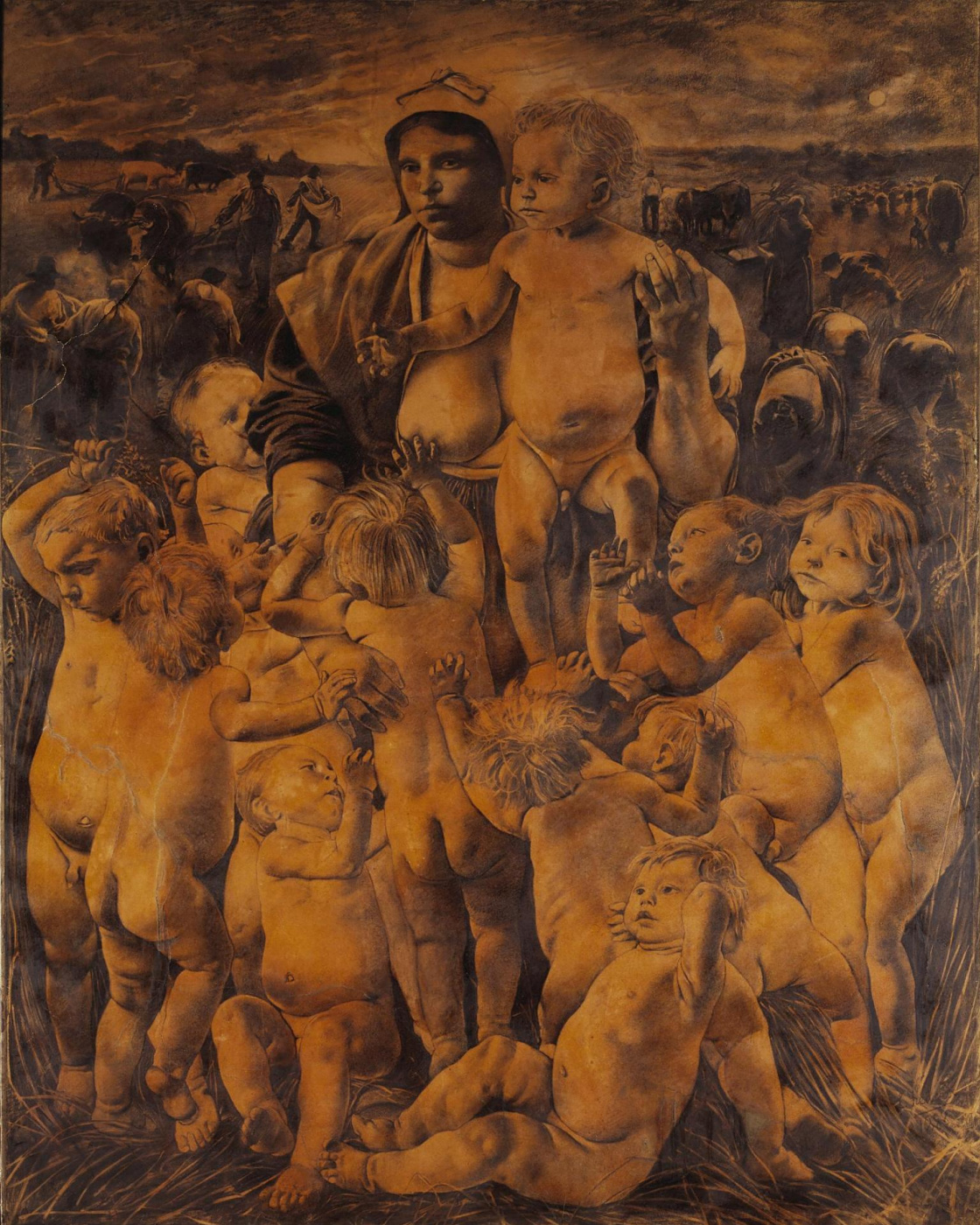 Leon Frederic. Allegory Of Fertility