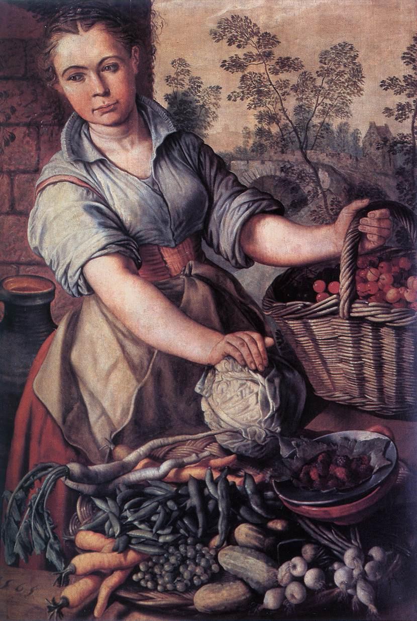 Joachim Beukkelaep. The vegetable vendor