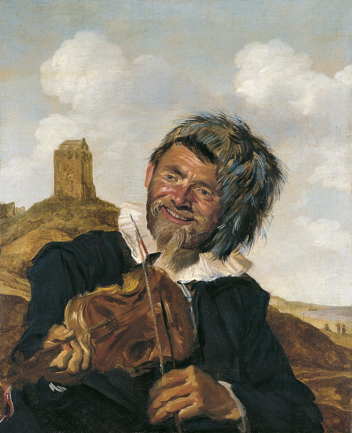 Frans Hals. Violin player in a dune landscape