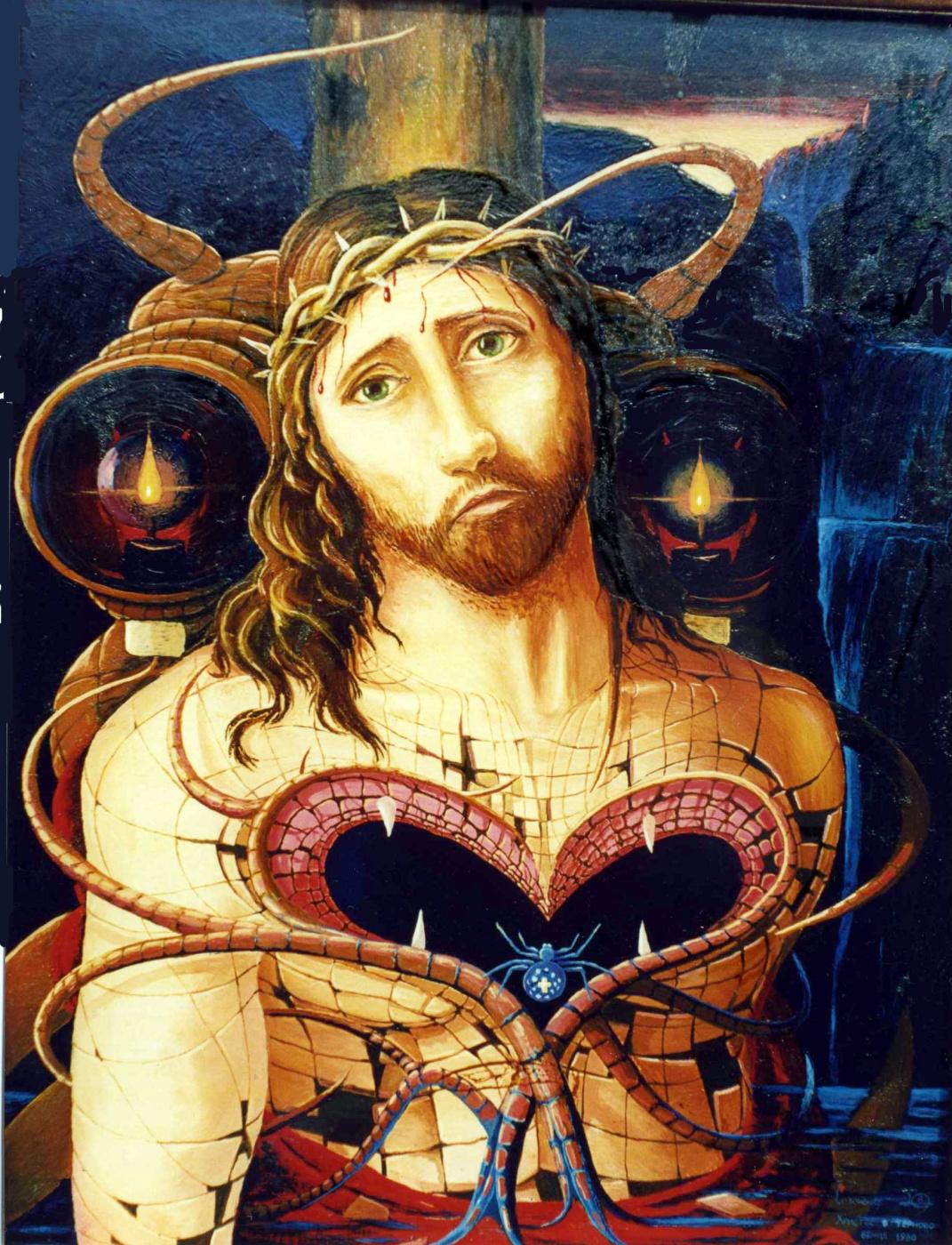 Yuri Vladimirovich Sizonenko. Christ in the crown of thorns.