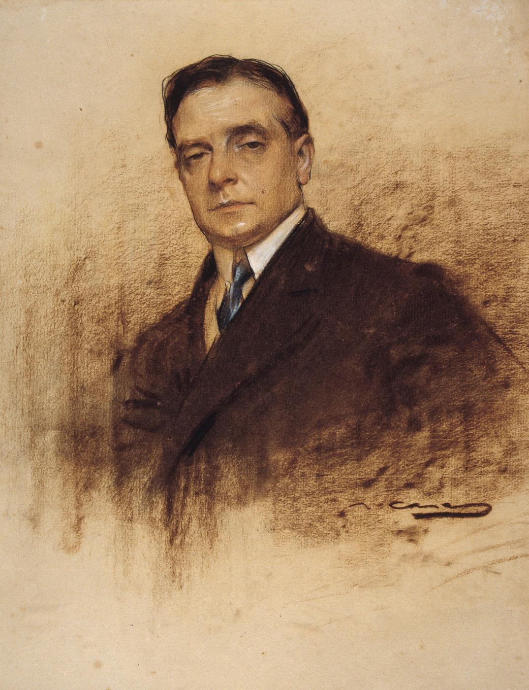 Ramon Casas i Carbó. Portrait of Enrique Borras