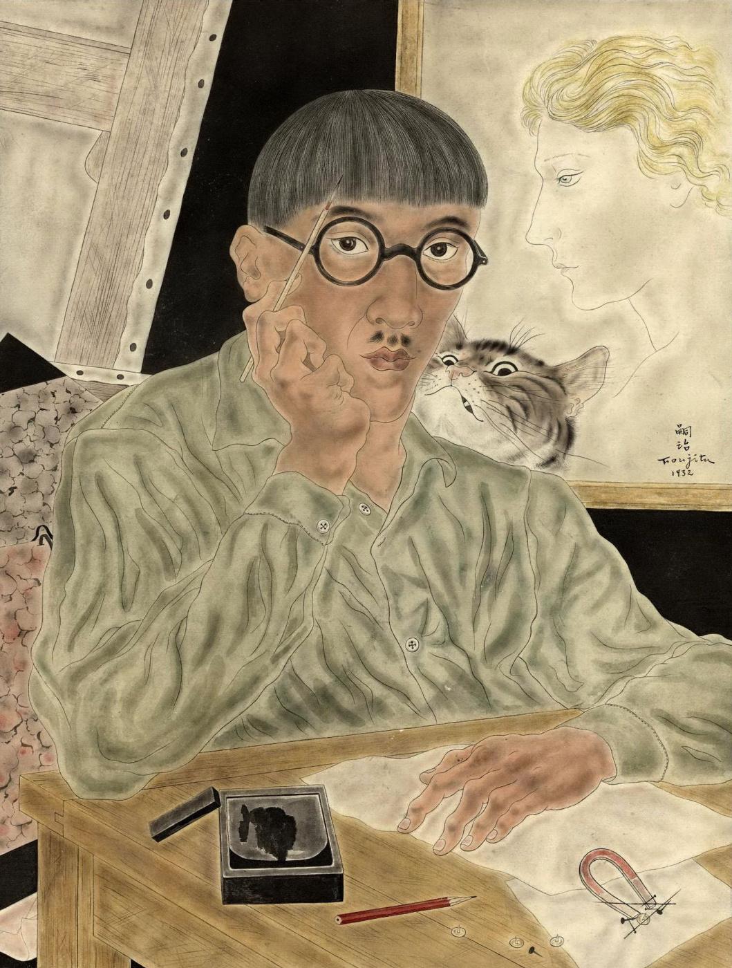 Zuguharu Fujita (Léonard Fujita). Self-portrait