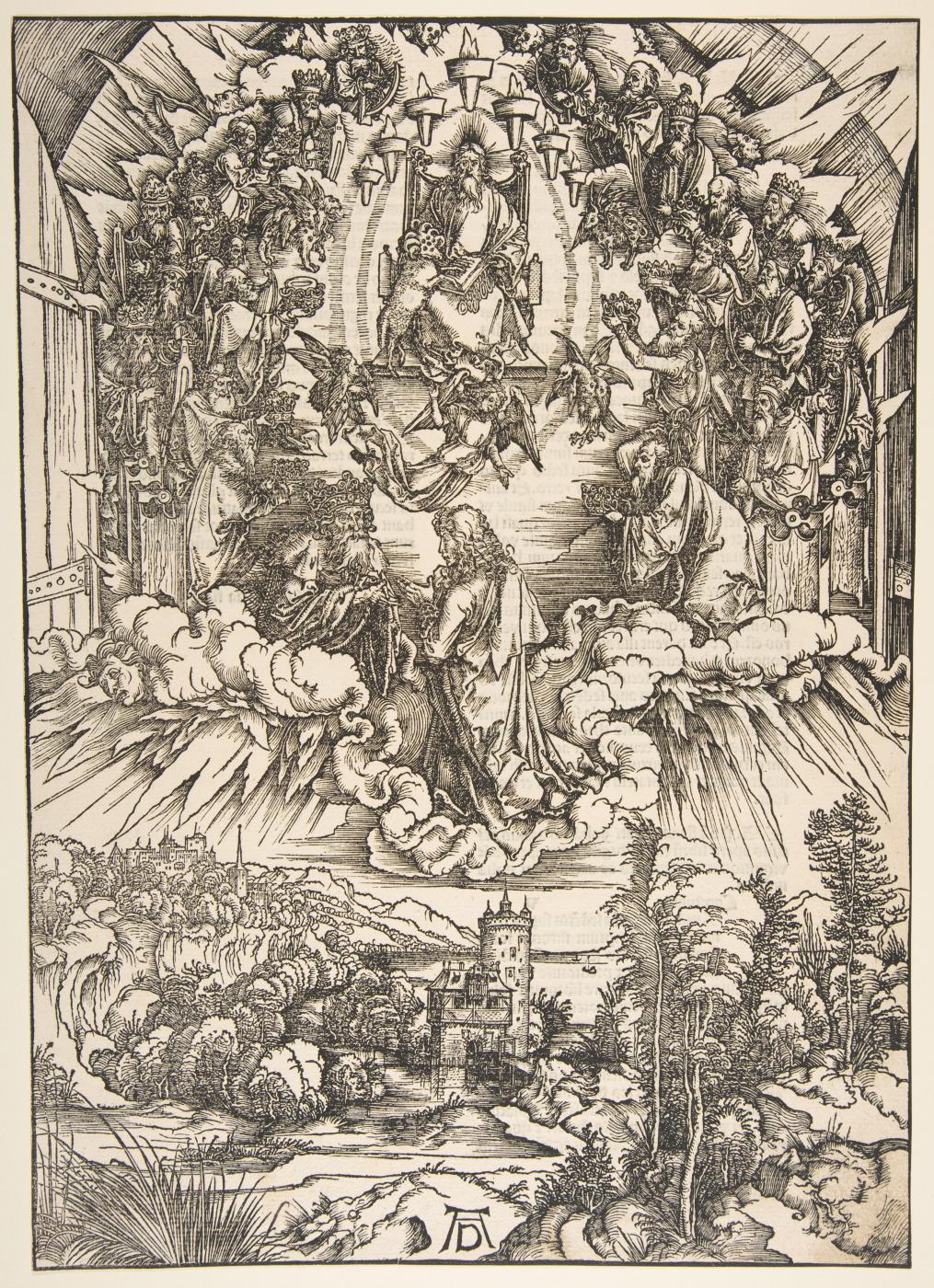 Albrecht Dürer. John before God and the twenty-four elders