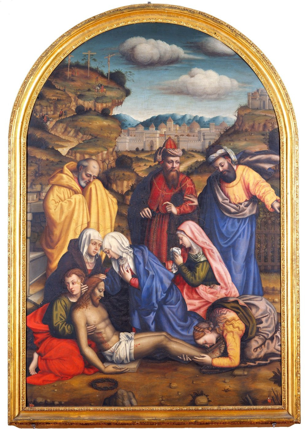 Plautilla Nelly. Lamentation for Christ with the saints