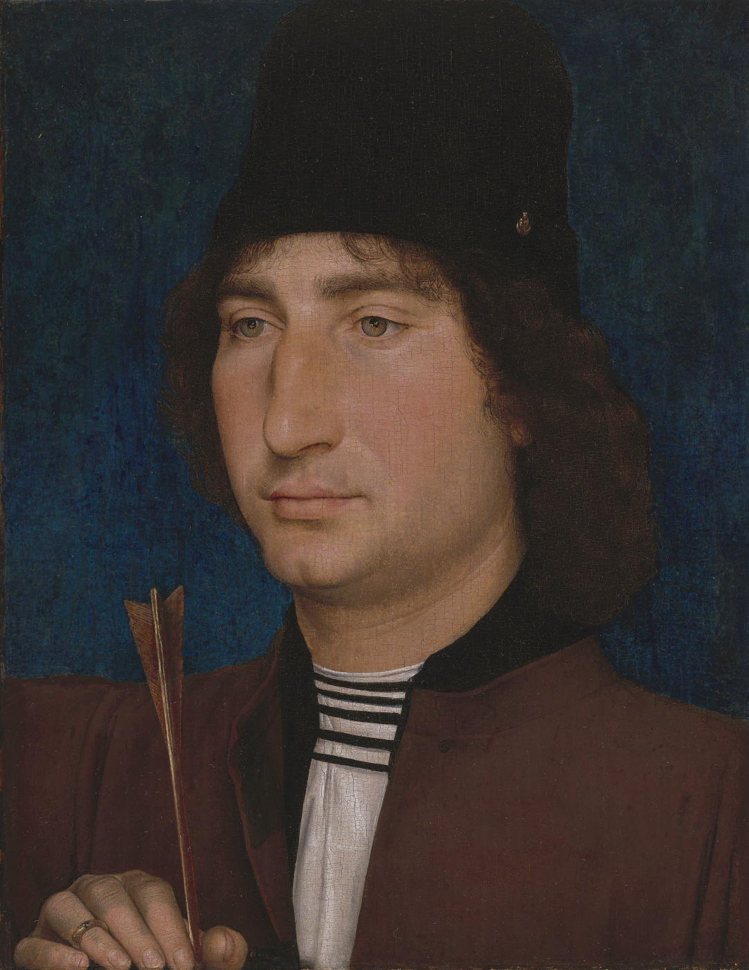 Hans Memling. Portrait of a Man with an Arrow
