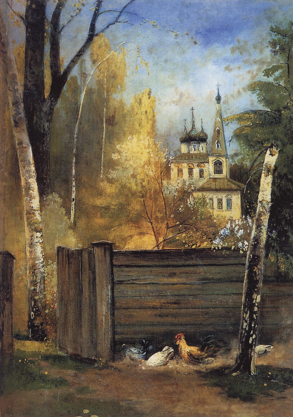 Alexey Savrasov. Spring. Provincial courtyard
