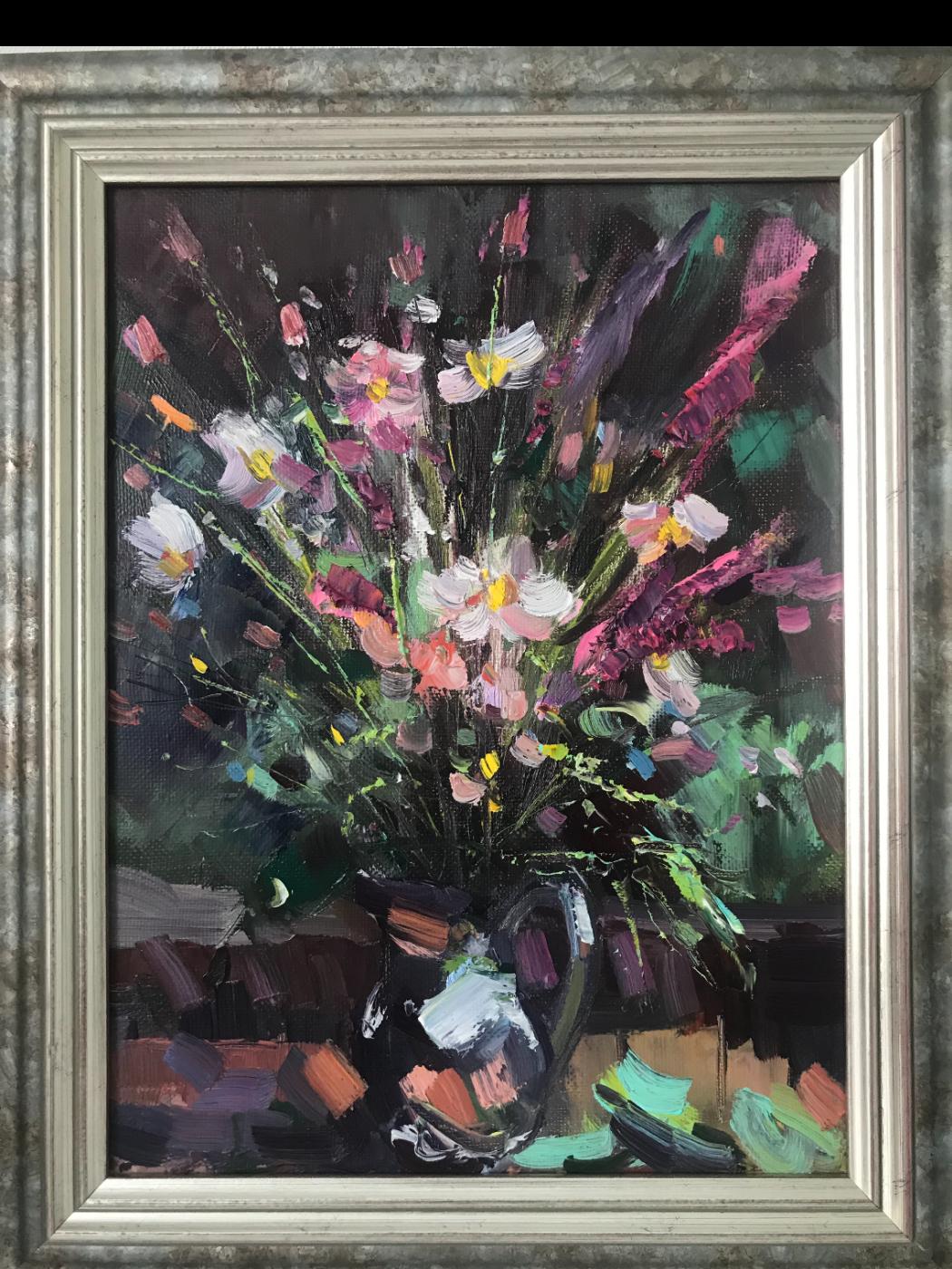 Екатерина Александровна Сильченко. Bouquet of flowers in a jug