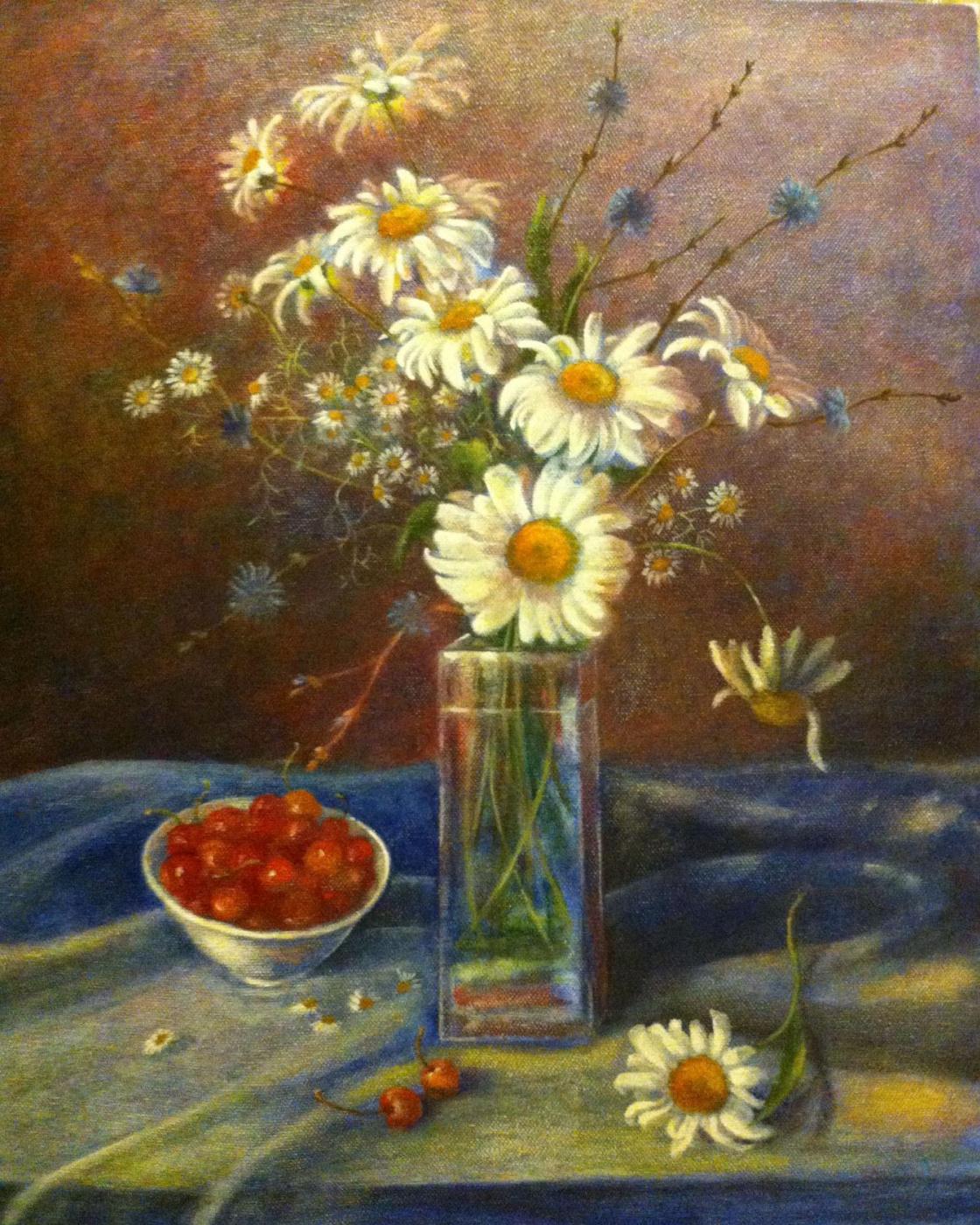 Yuri Gennadievich Piskunov. Chamomile, chicory, sweet cherry
