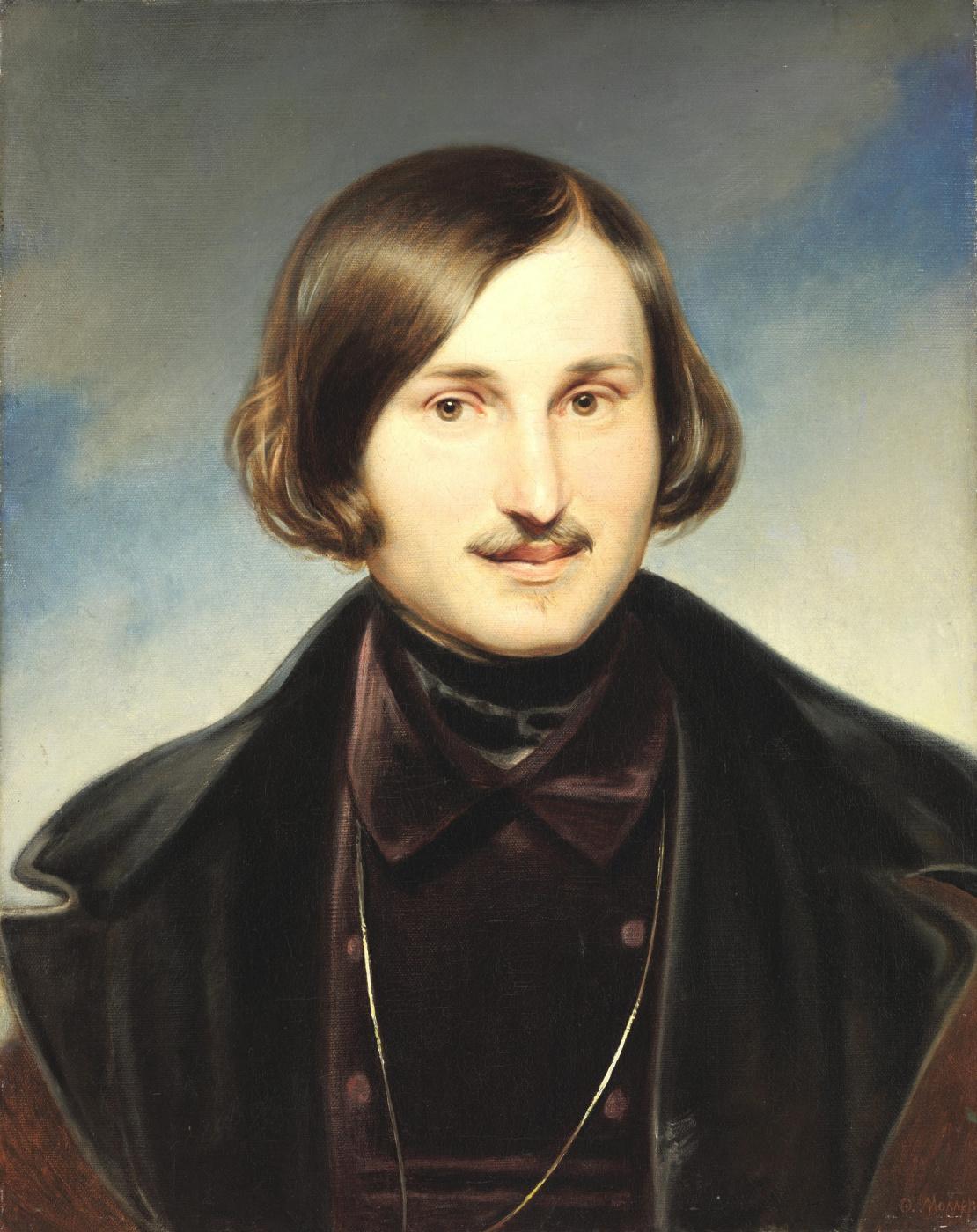 Fedor Antonovich Moller. Portrait of the writer Nikolai Vasilyevich Gogol