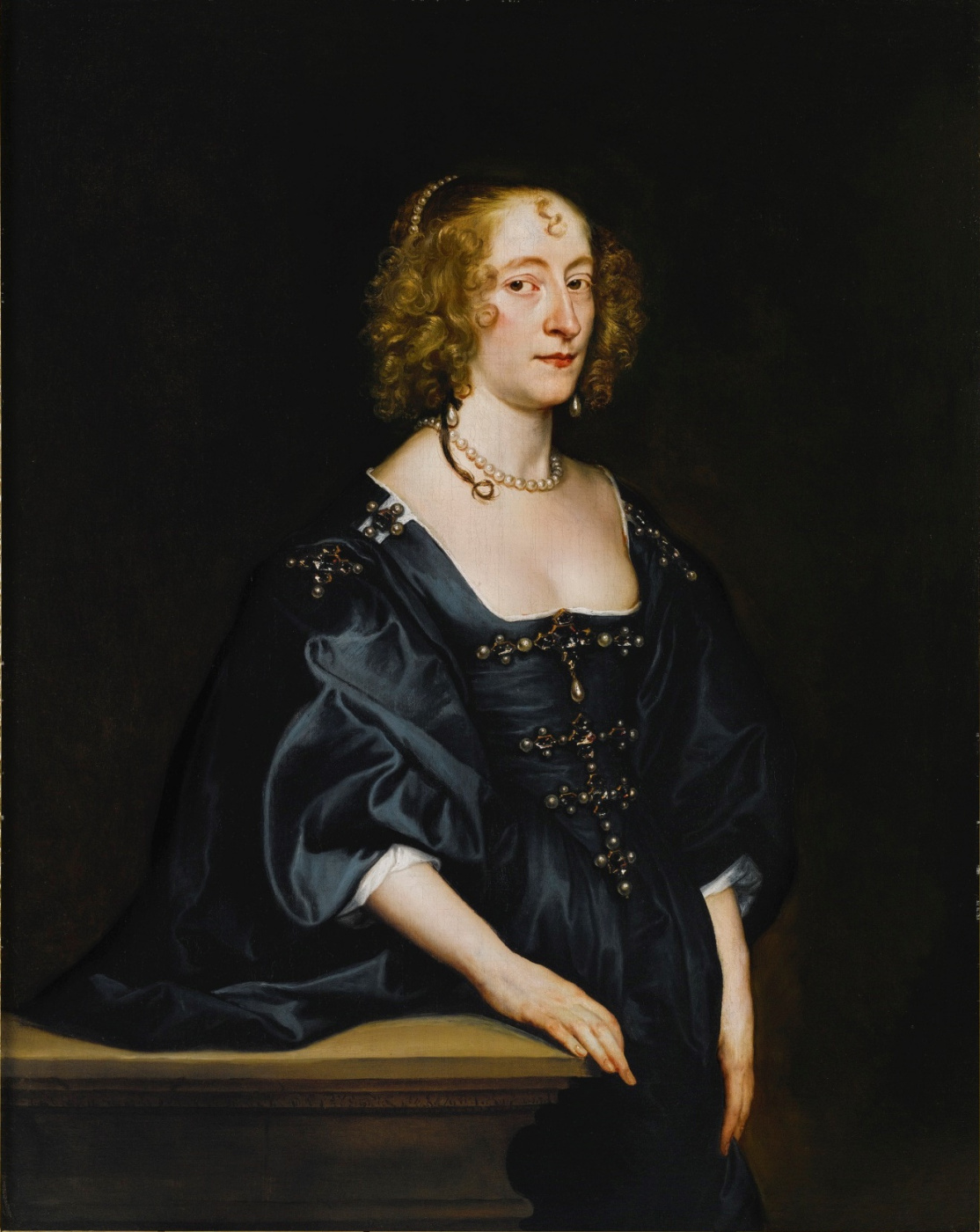 Anthony van Dyck. Portrait of Francis Desvres, Countess of Hertford and later Duchess of Somerset