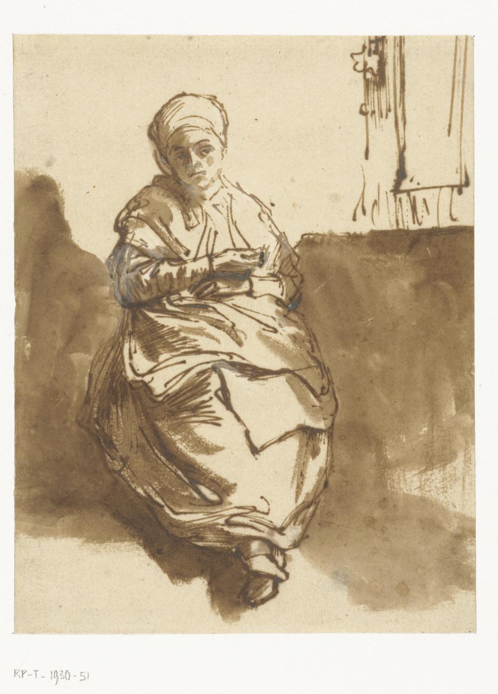 Rembrandt Harmenszoon van Rijn. Saskia at the window