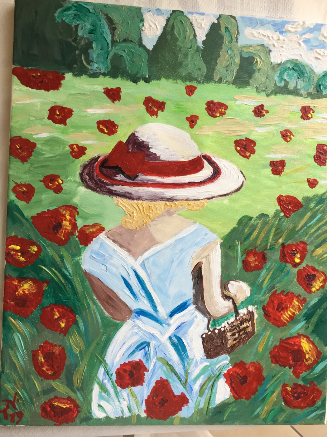 (no name). Girl in poppies