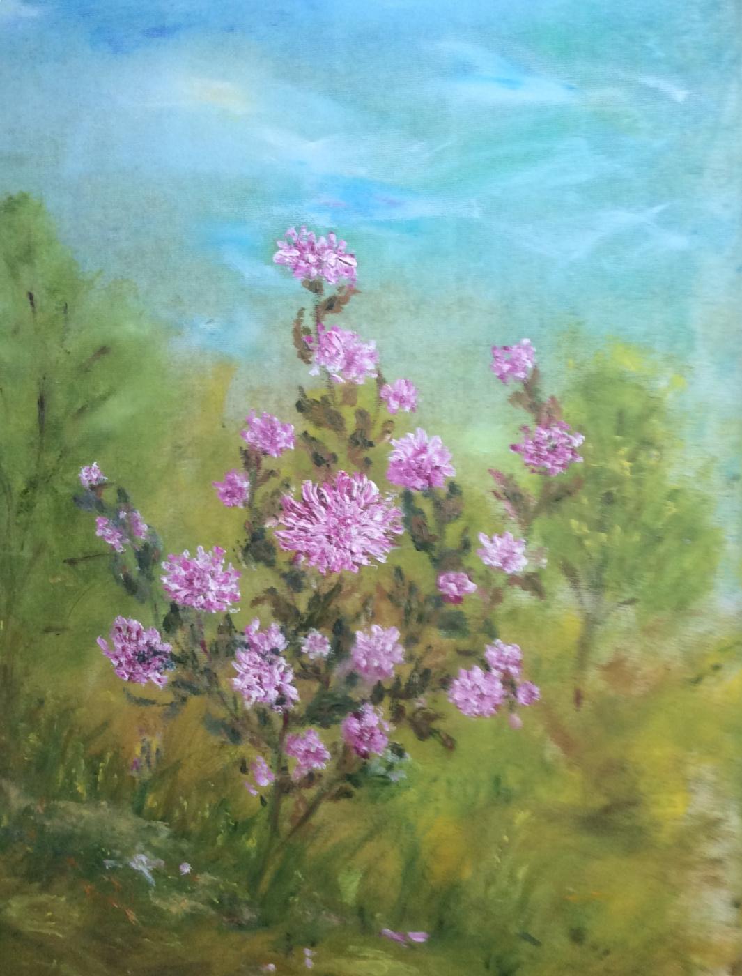 Rita Arkadievna Beckman. Rose bush