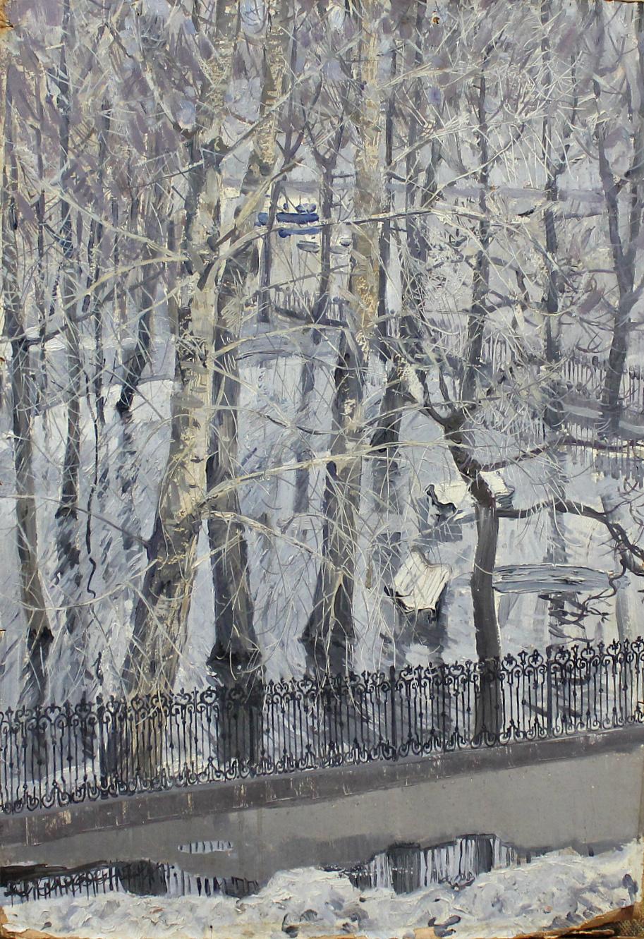 Georgiy Semenovich Vereisky. Winter landscape