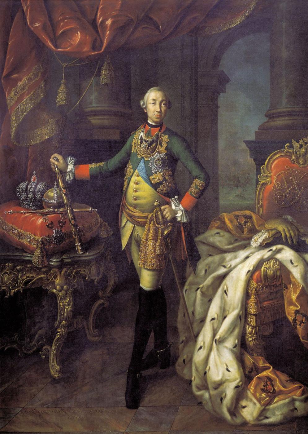Alexey Antropov. Portrait of Peter III