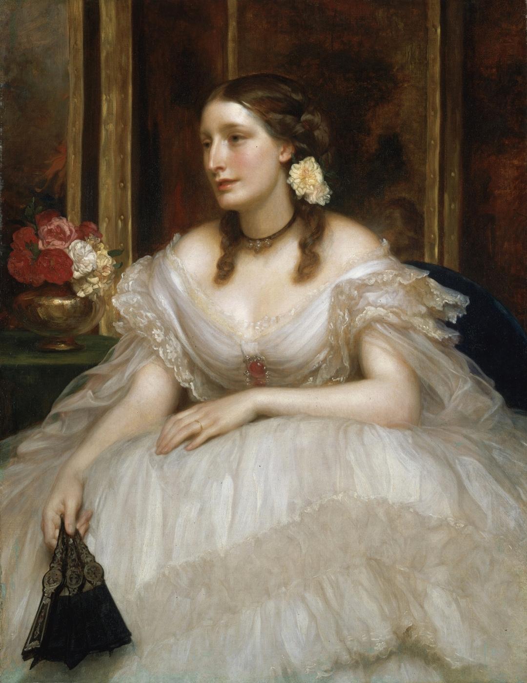 Frederic Leighton. Portrait of Mrs Augusta Magniac