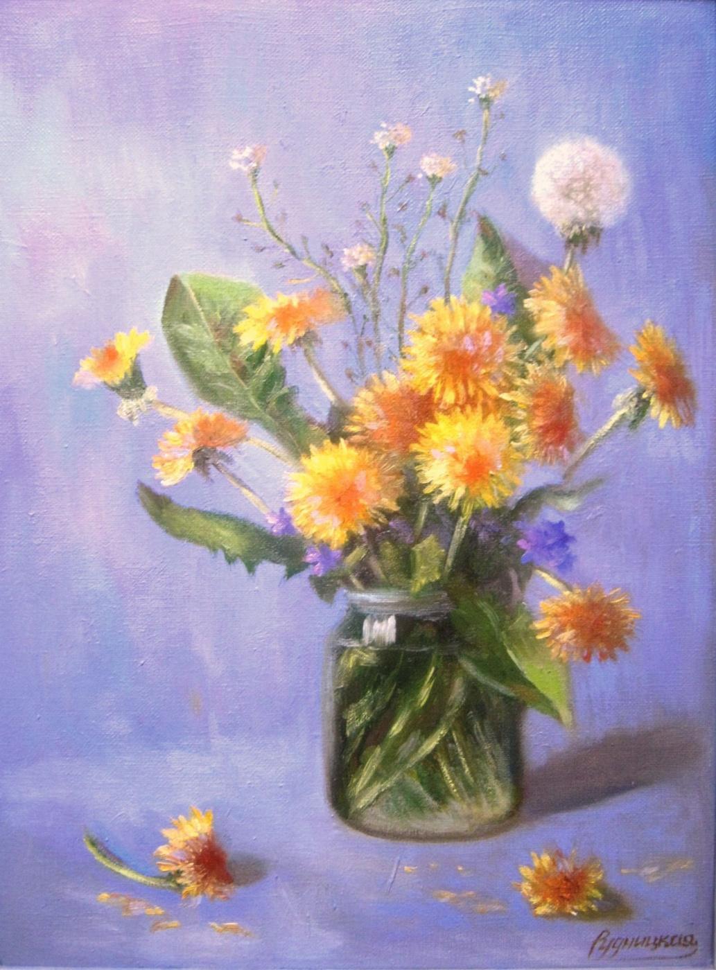 Zhanna Alexandrovna Rudnitskaya. Bouquet of dandelions
