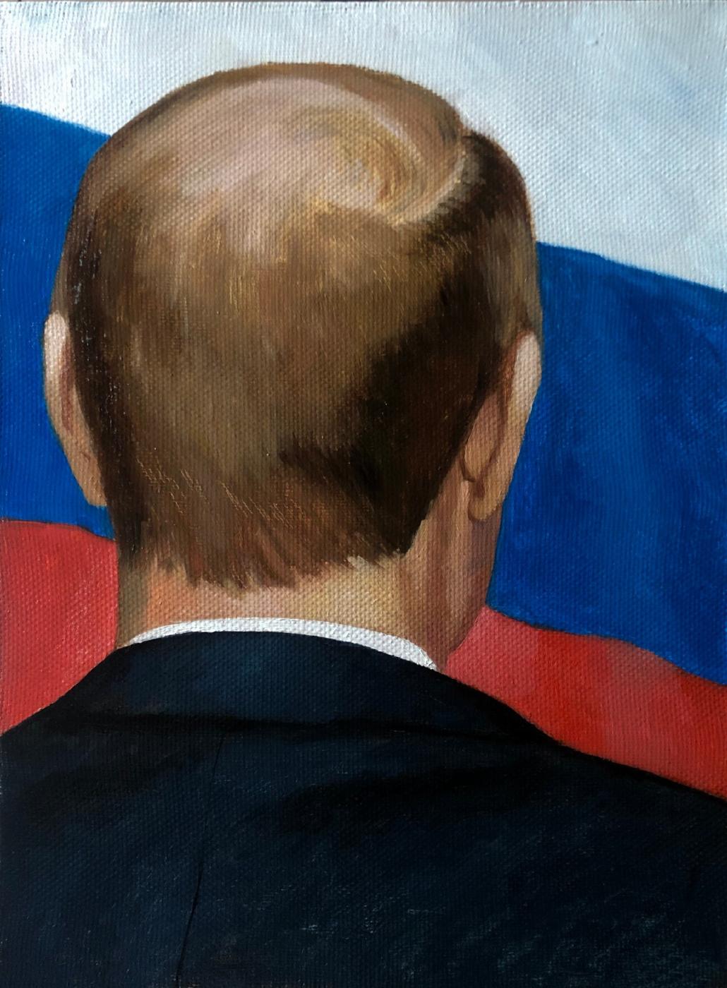 Ibrahim Gadzhimuratovich Ikhlazov. V.V. Putin. Back view