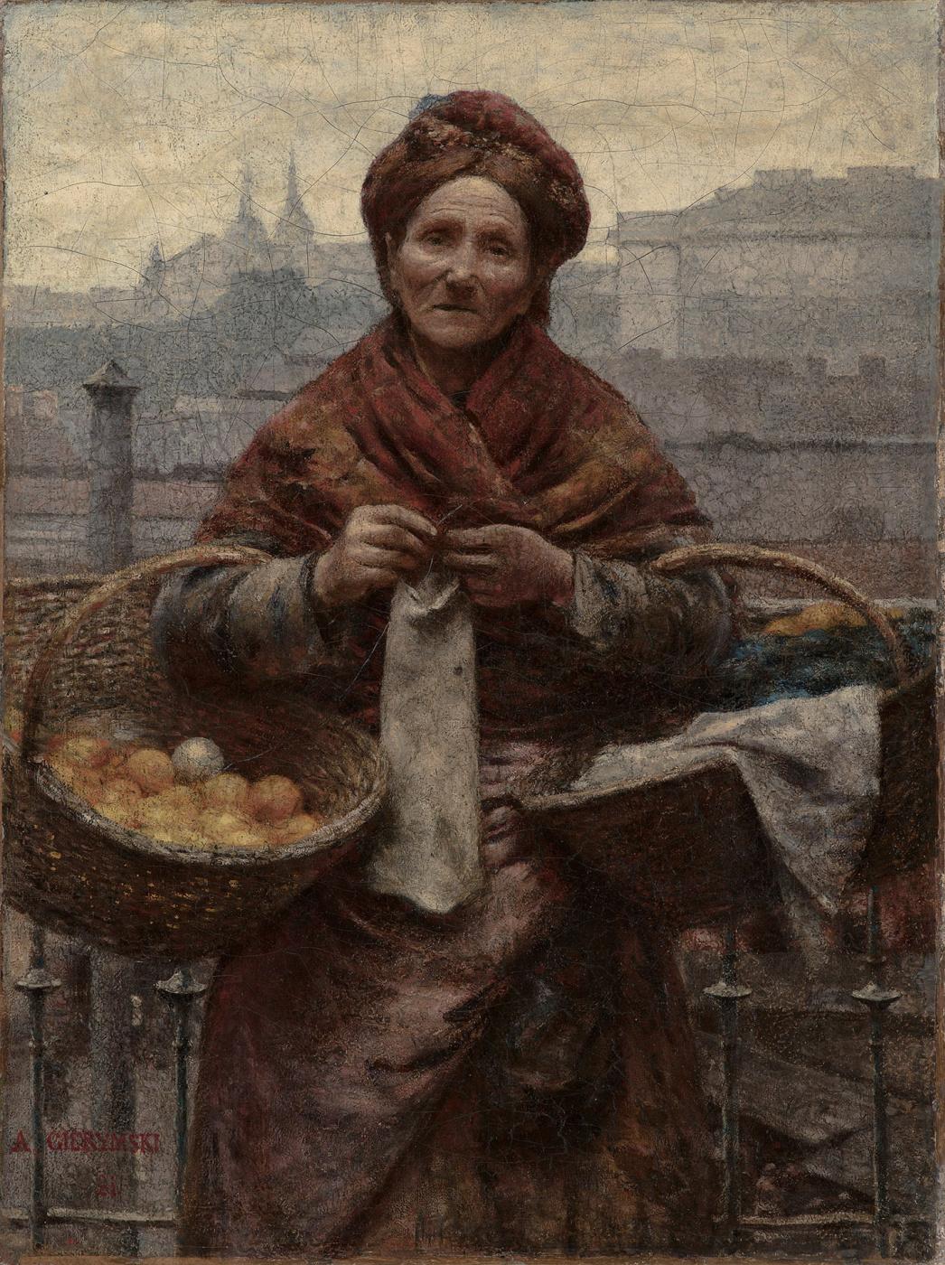 Alexander Gerymski. Jewess with oranges