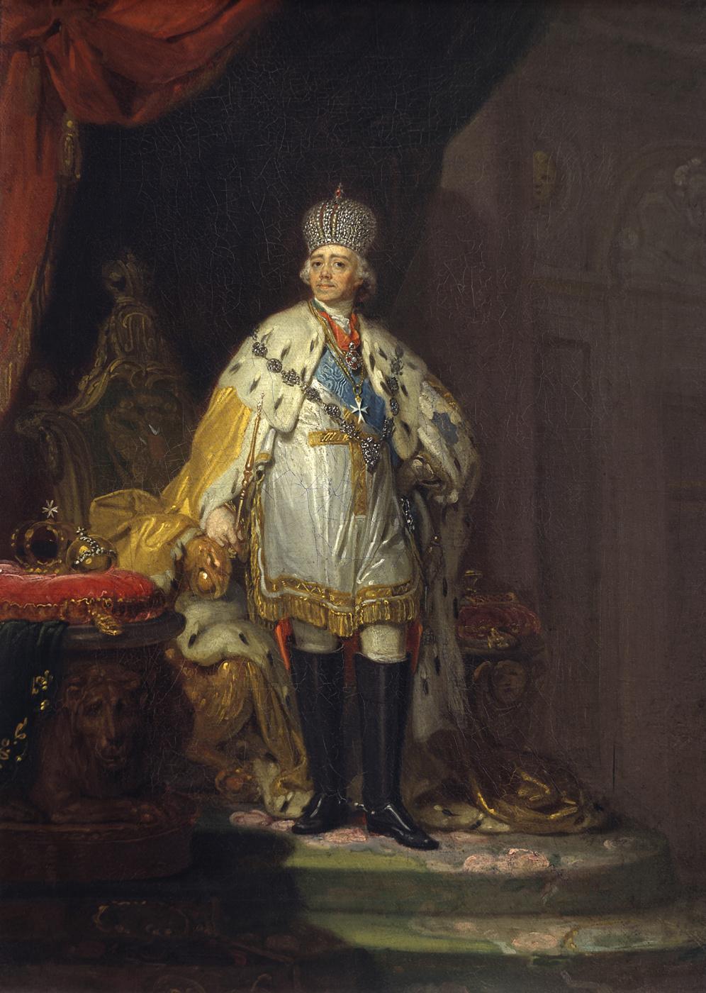 Vladimir Borovikovsky. Portrait of Paul I in a white dalmatic