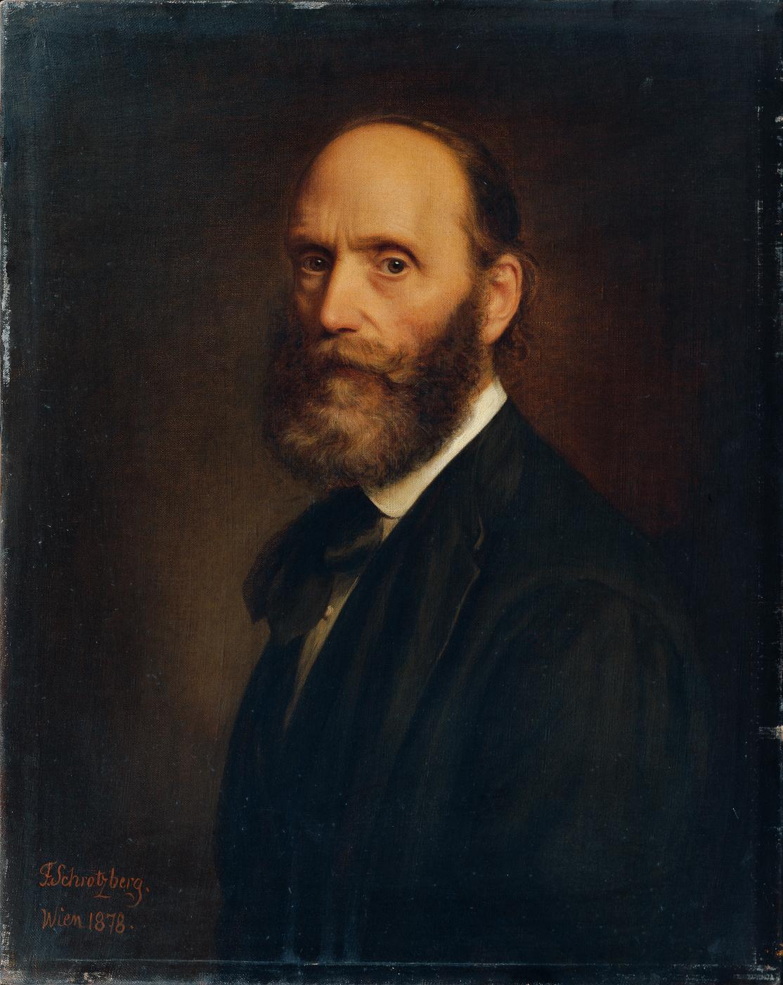 Franz Schrotzberg. Self-portrait