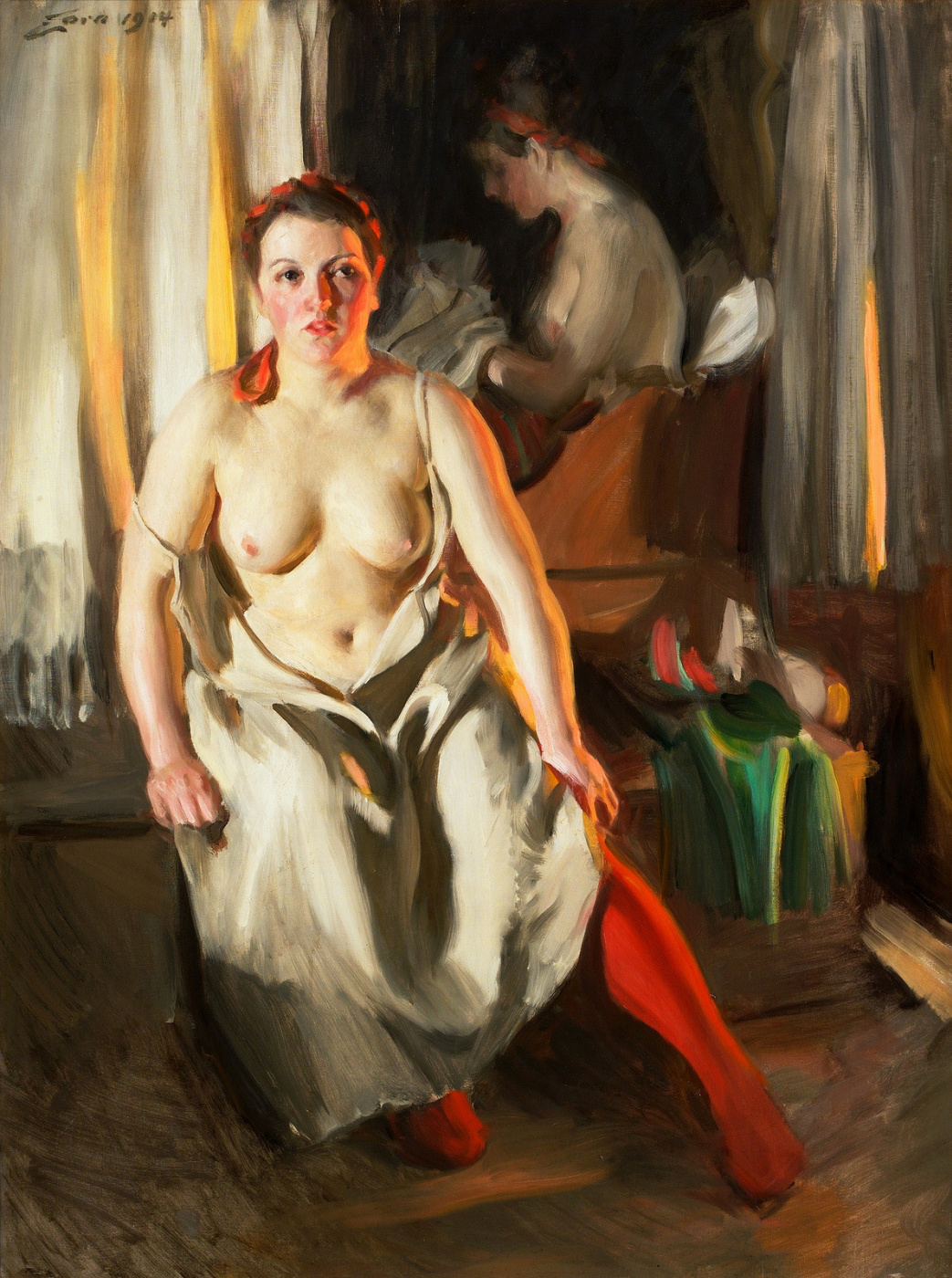 Anders Zorn. Red stockings