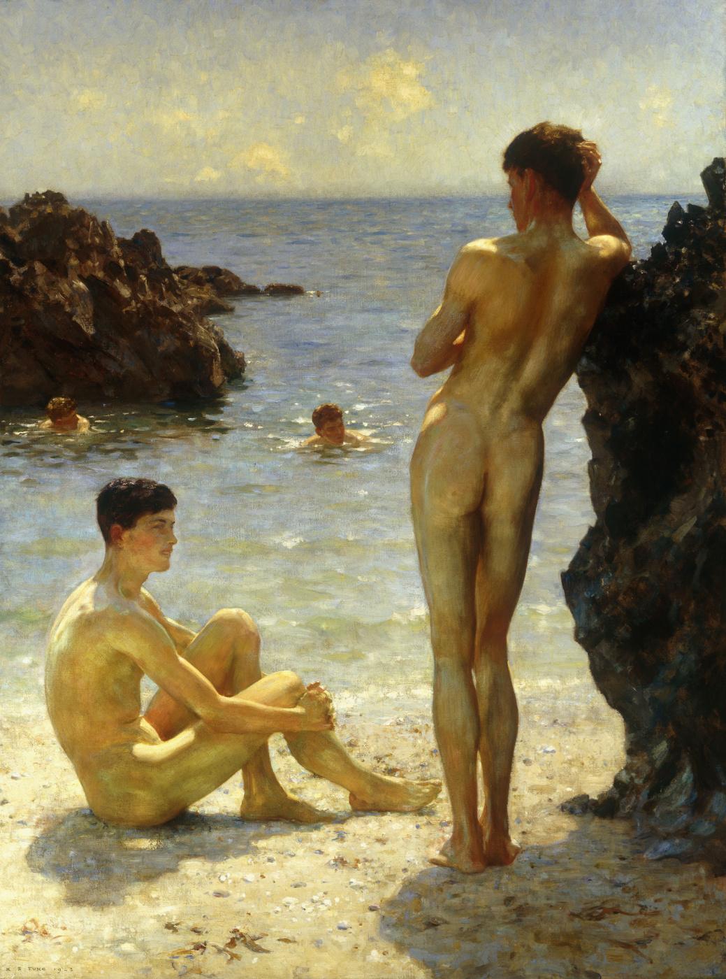 Tuke Henry Scott. 1858-1929. A Lovers of the Sun, 1923