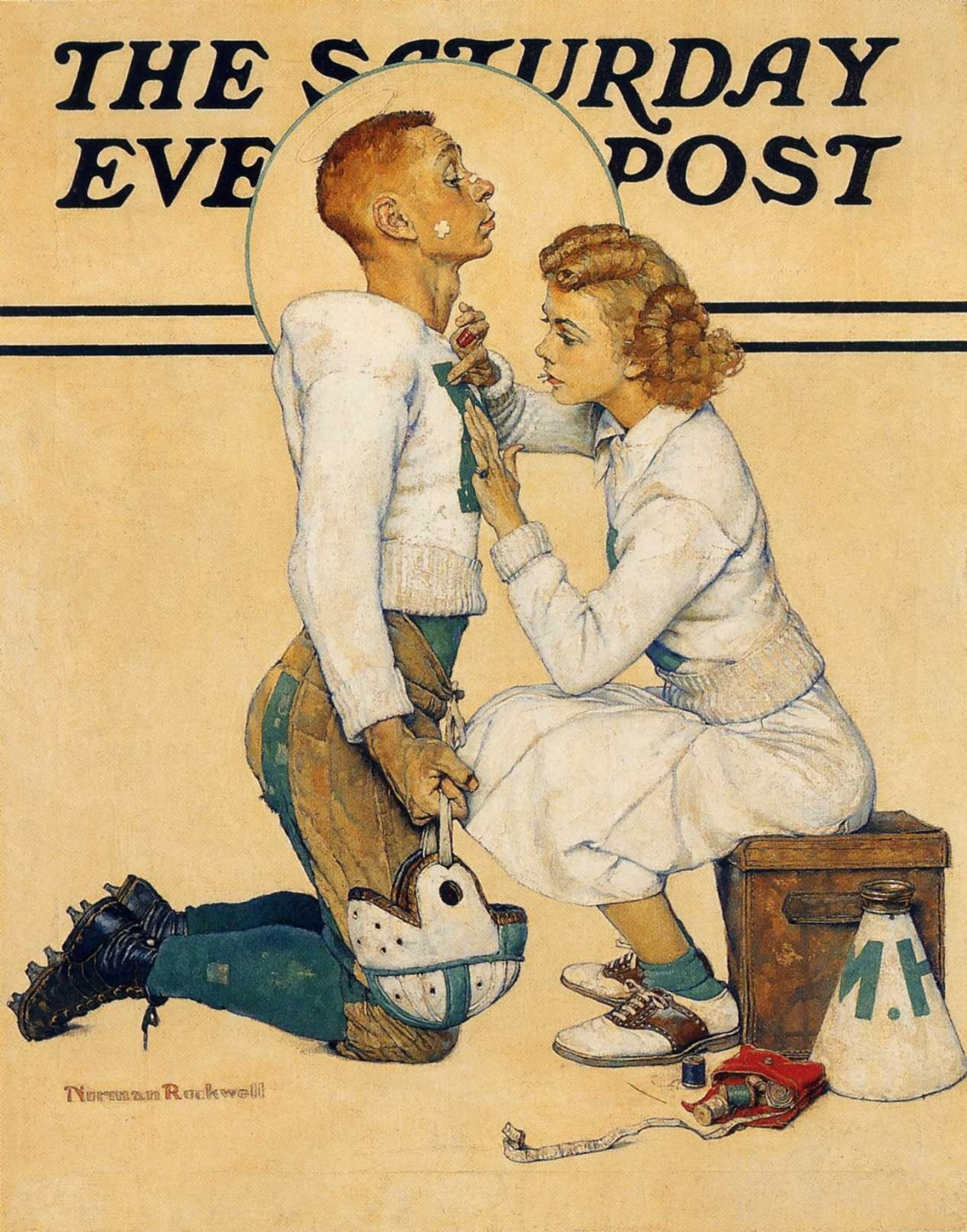 """Norman Rockwell. Champion. Cover of """"The Saturday Evening Post"""""""