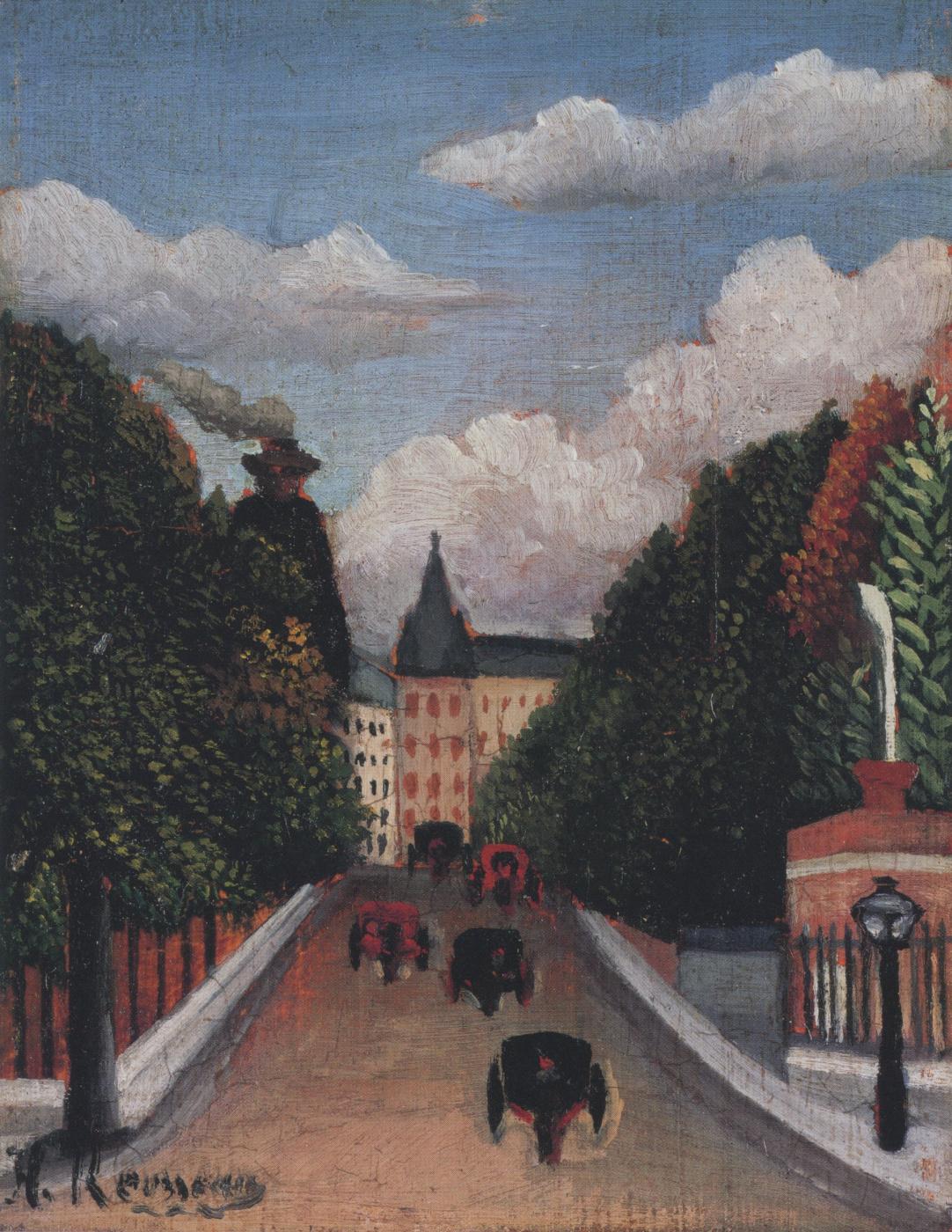 Henri Rousseau. View from the Left of (La) Gare d'Austerlitz
