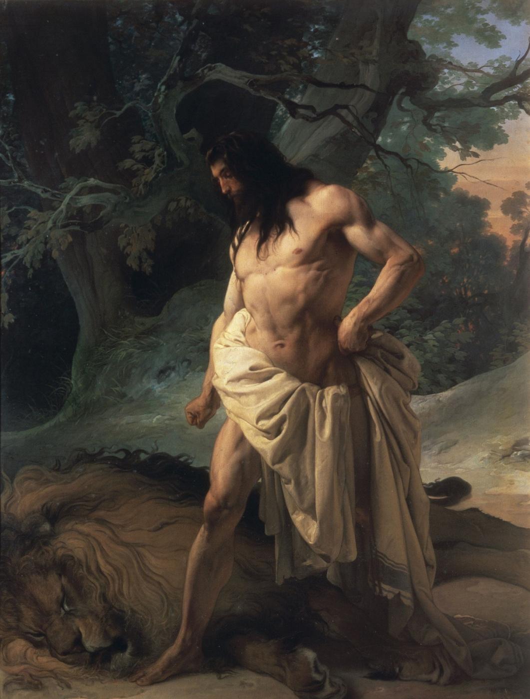 Francesco Ayets. Samson over a slain lion