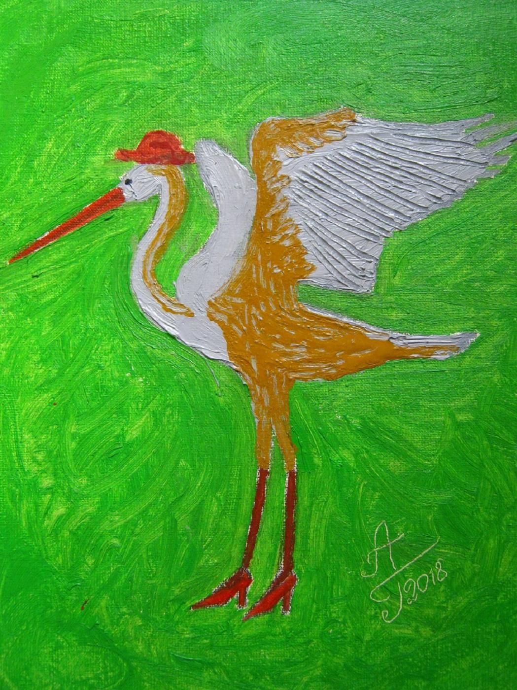"Alexey Grishankov (Alegri). ""Dance of a Long Gray Heron"" (Long Gray Heron Dance"