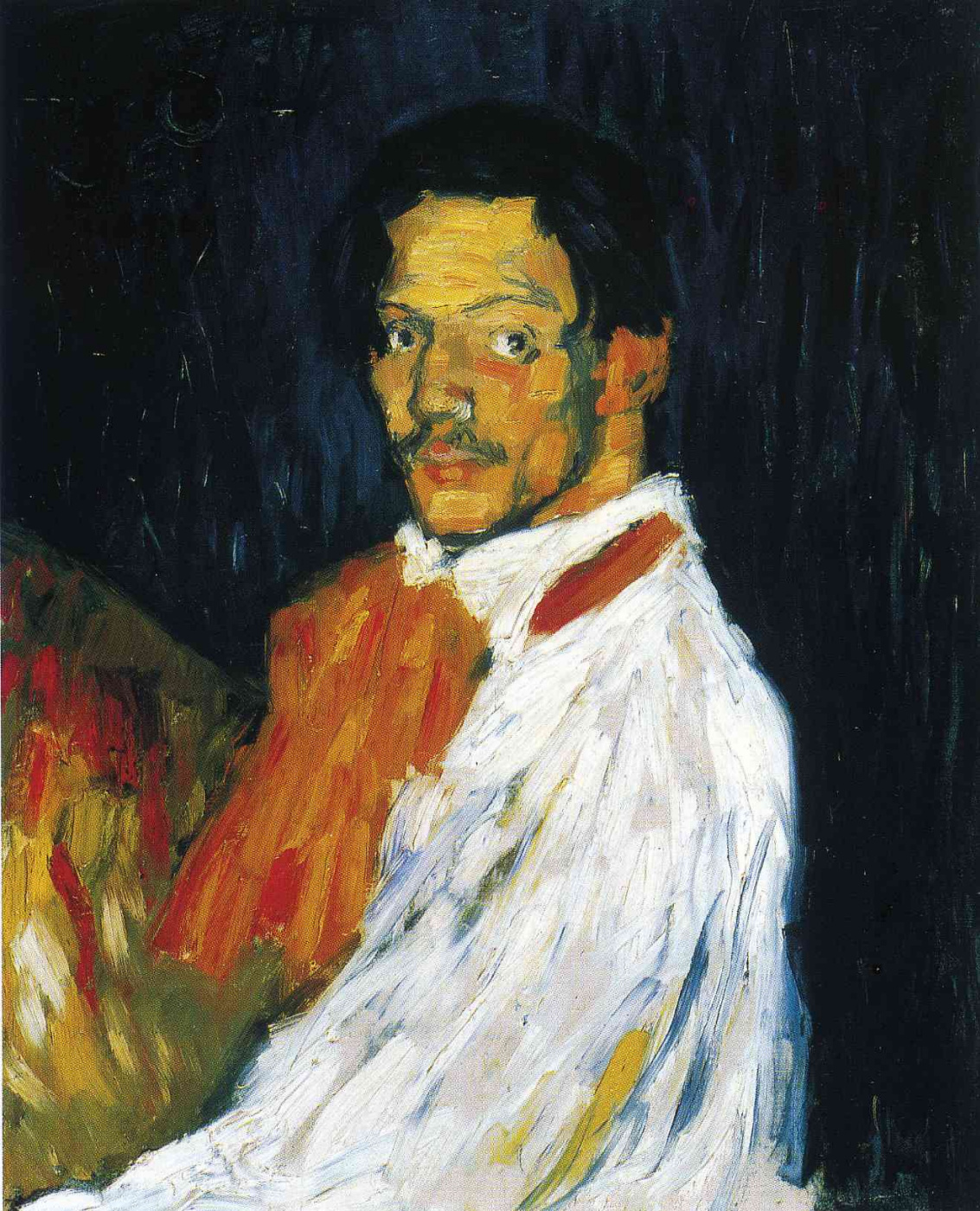 Pablo Picasso. I Picasso (portrait of a man in a white shirt)