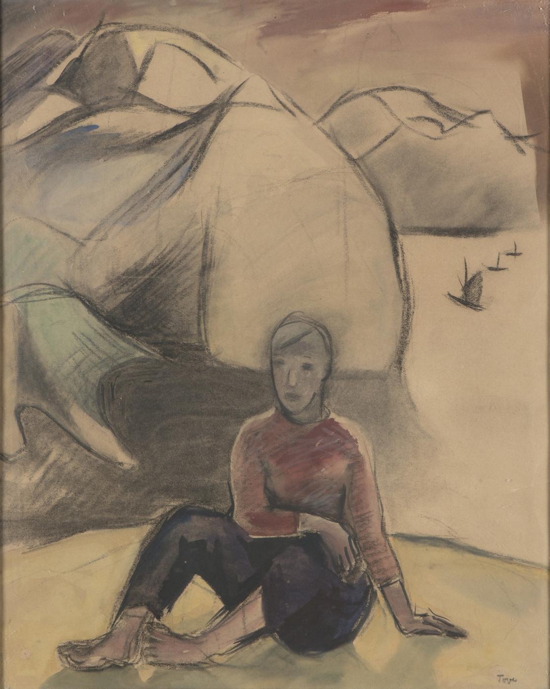 Tove Jansson. Girl on the beach