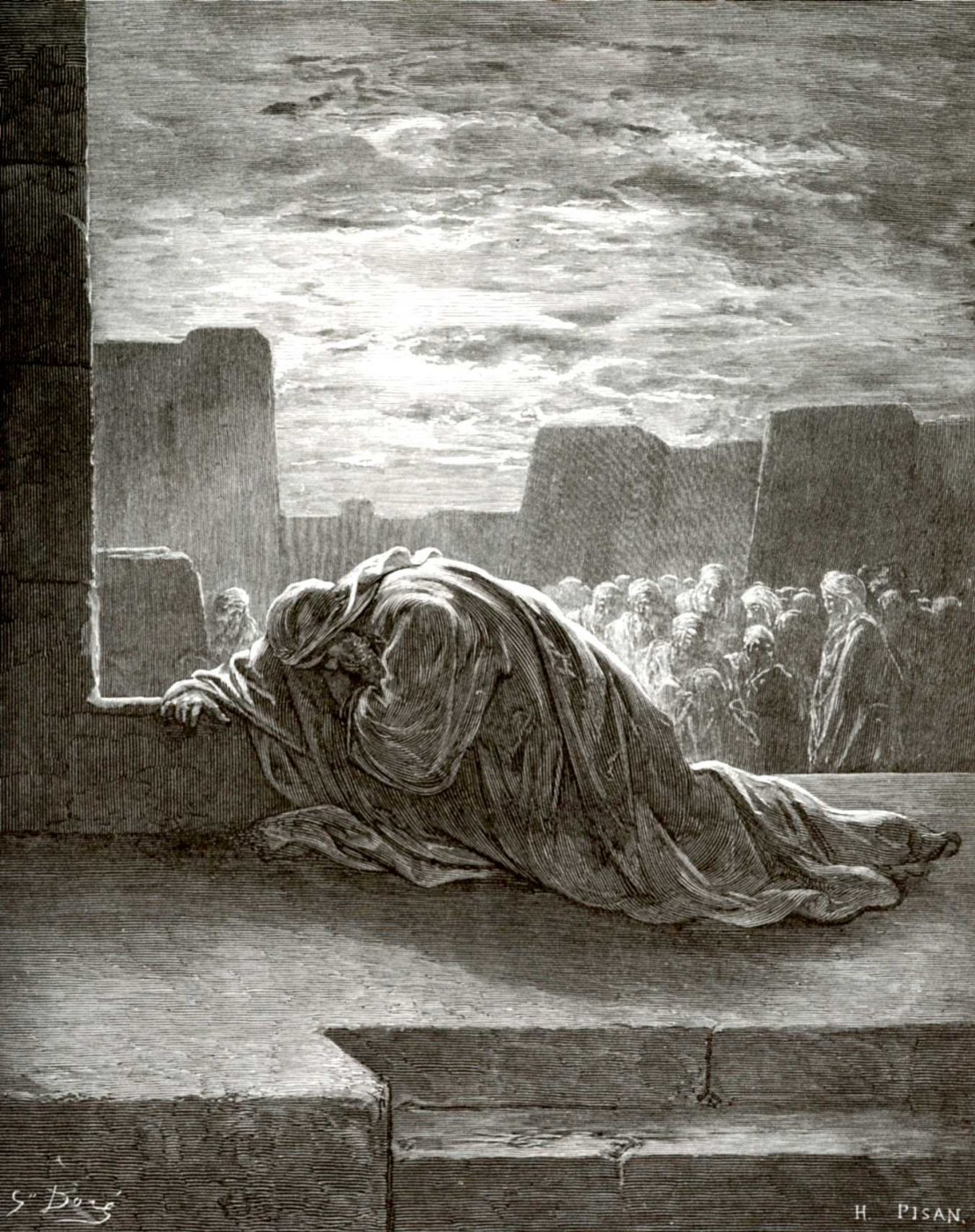 Paul Gustave Dore. Bible illustration: Ezra