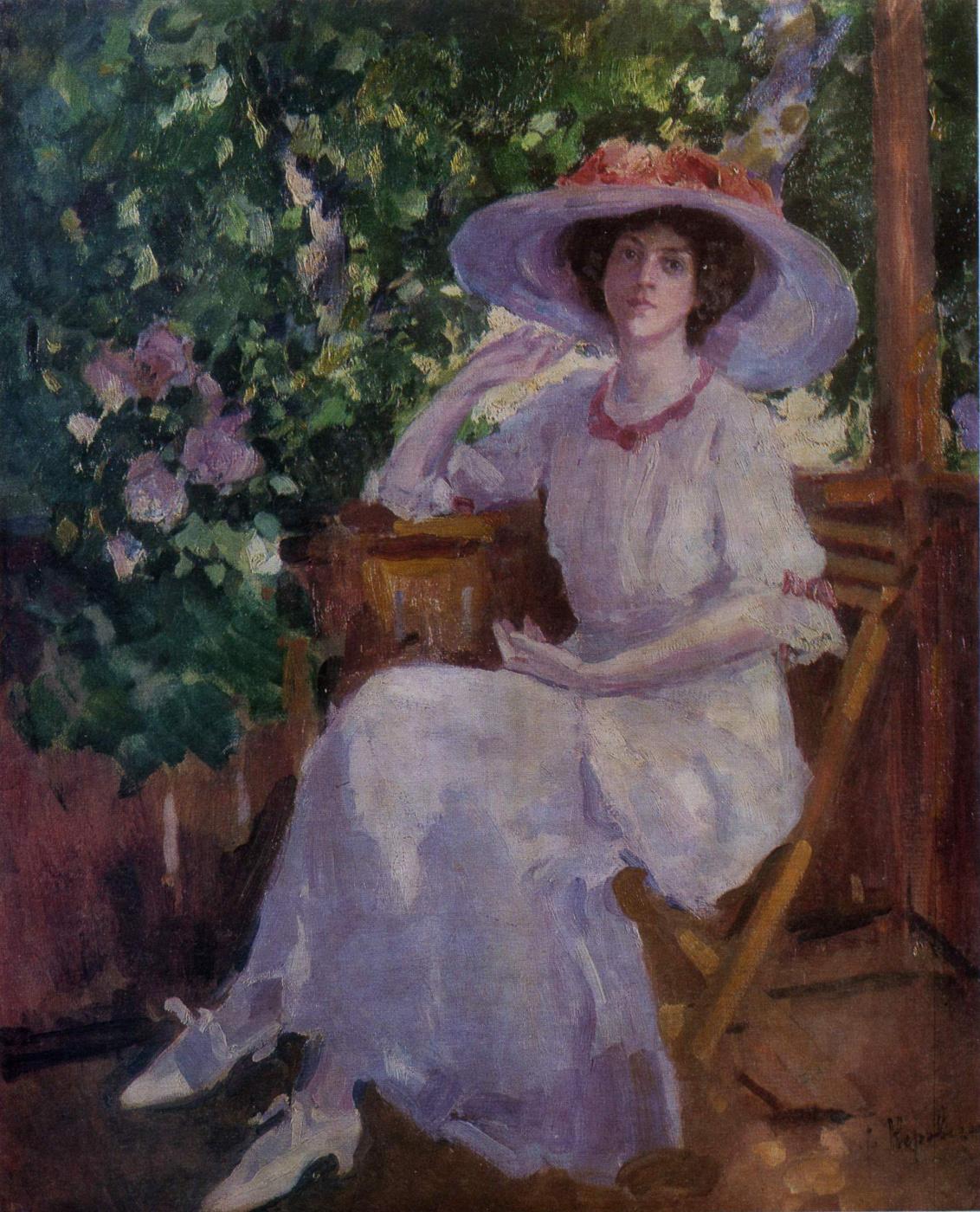 Konstantin Korovin. Portrait of the actress N. I. Komarovskaya