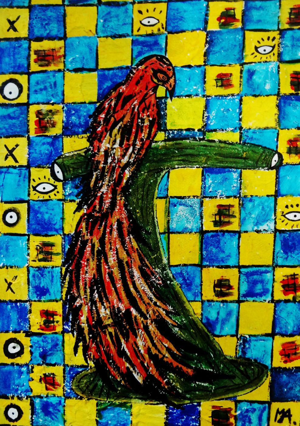 Mairon almeida. Bird on the pedestal