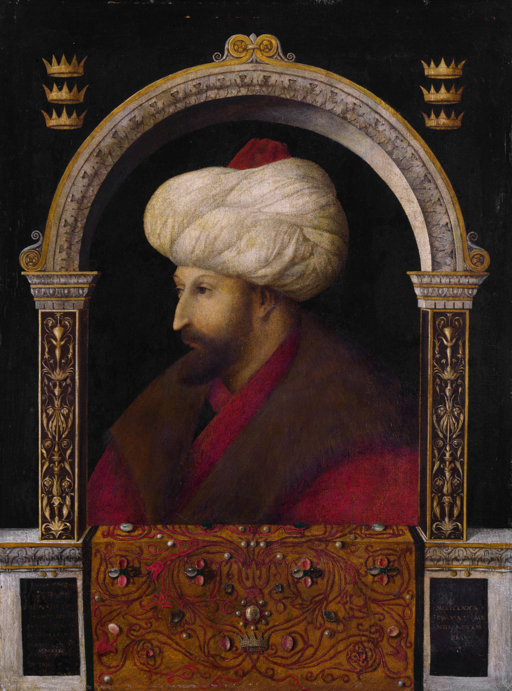 Gentile Bellini. Portrait of Sultan Mehmed II the Conqueror